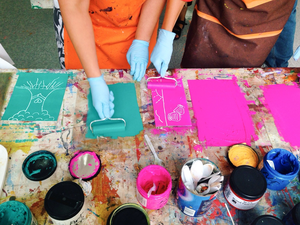 Printmaking workshop (with artist Jean Burdick)