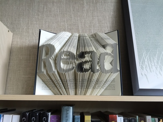 Jane Eyre, in book art form. Considering Jane's character, I think this word is appropriate.