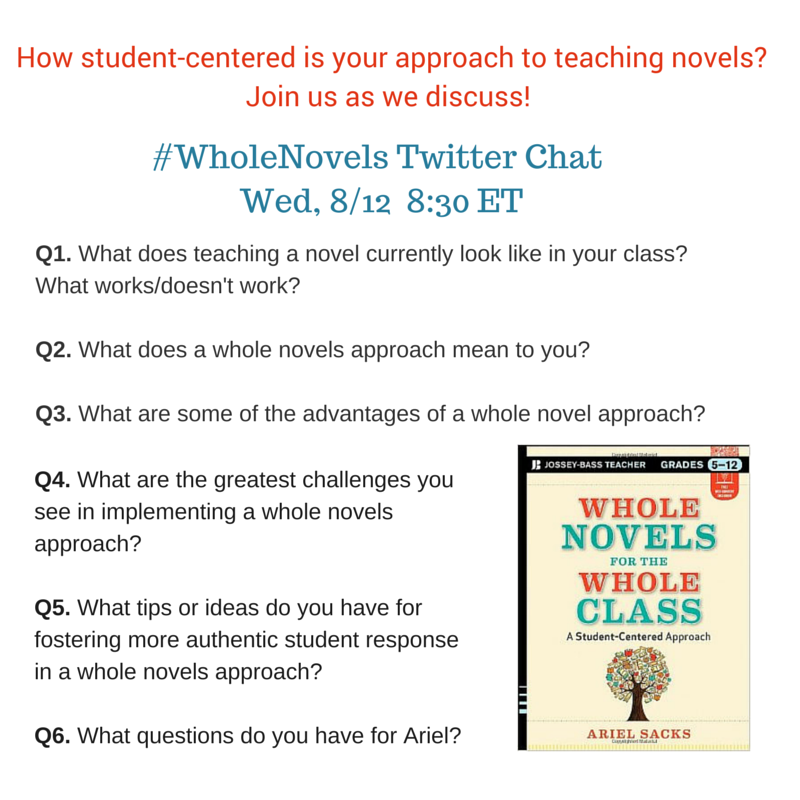 #WholeNovels Twitter Chat