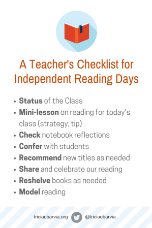 A Teacher's Checklist forIndependent Reading
