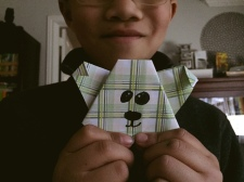 One of his origami bears.